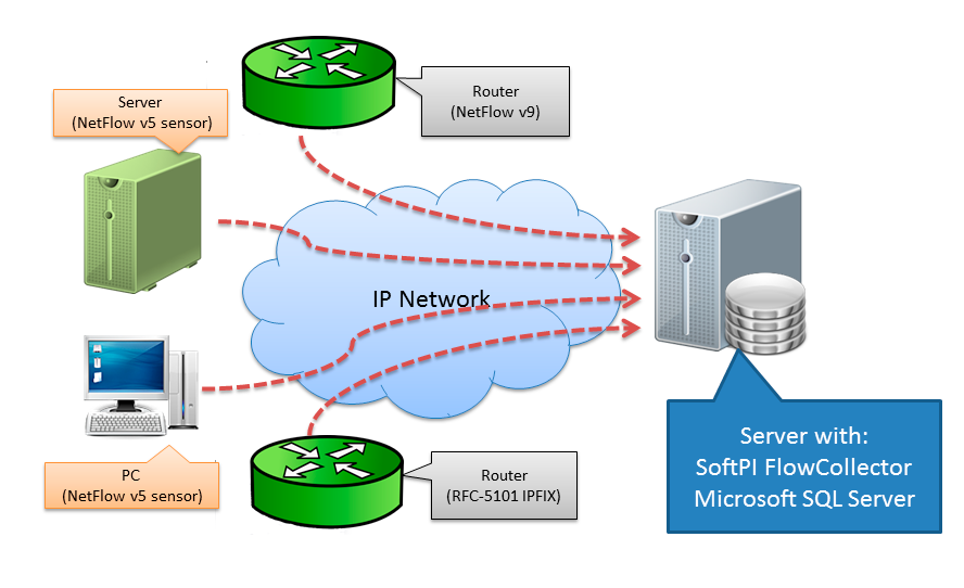 SoftPI Flow Collector schema